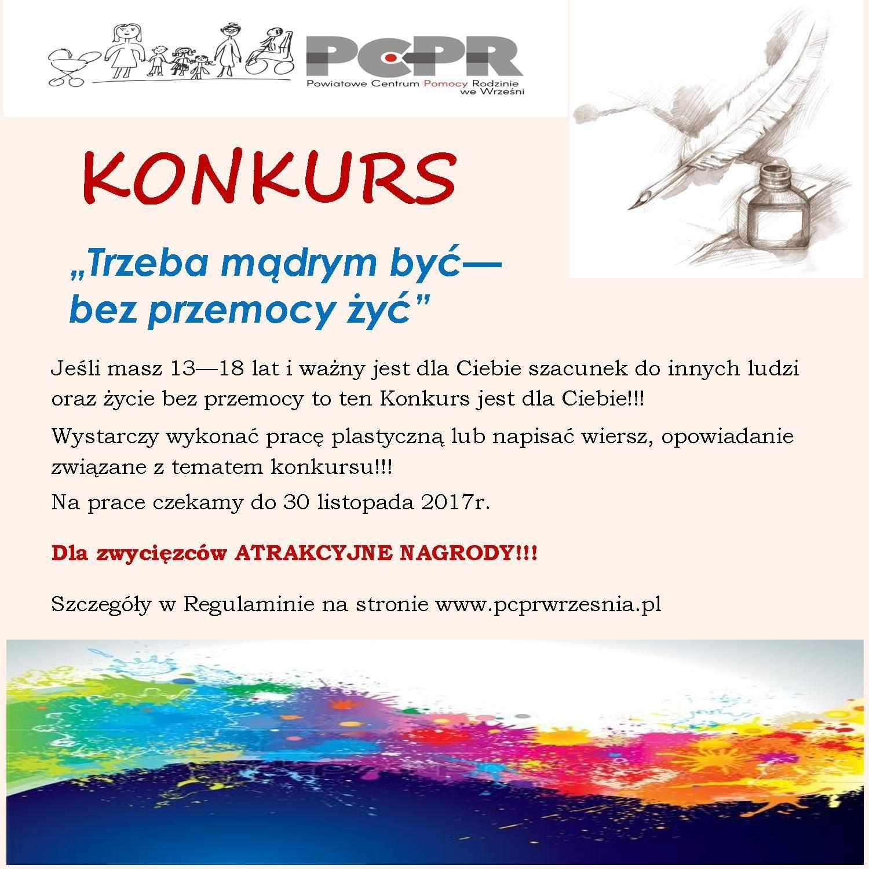 Plakat Przemoc Wielkopolska Kampania Społeczno